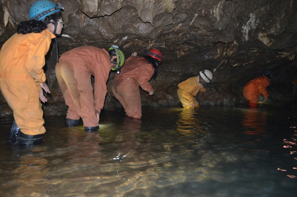 wading water underground cave, Krem Mawmluh, Cherrapunji