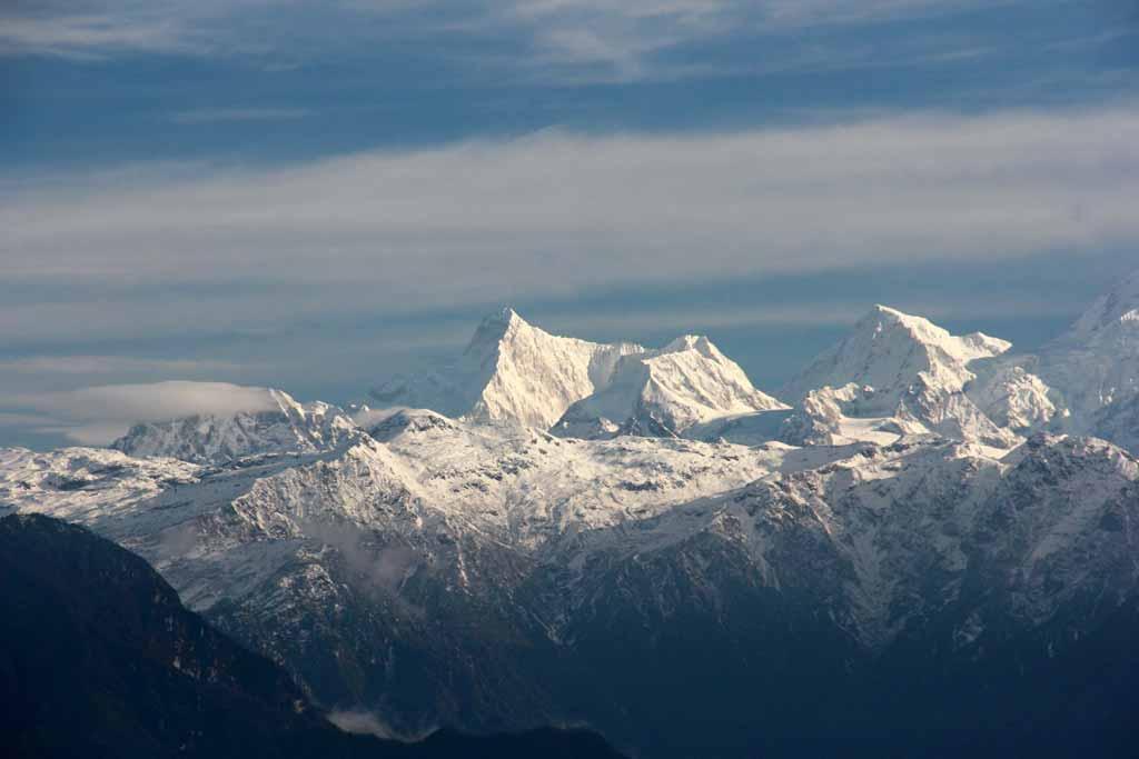 Snowy peaks of Kangchenjunga range