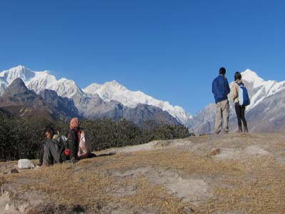 Kangchenjunga views on Dzongri trek