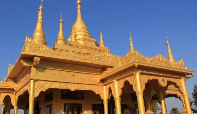 The Golden Pagoda in Namsai - East Arunachal
