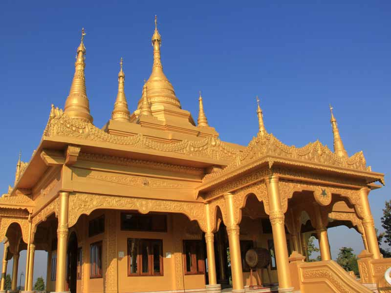 The Golden Pagoda in Namsai - East Arunachal