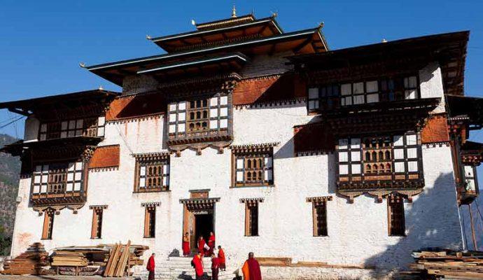 Trashighan dzong in east bhutan