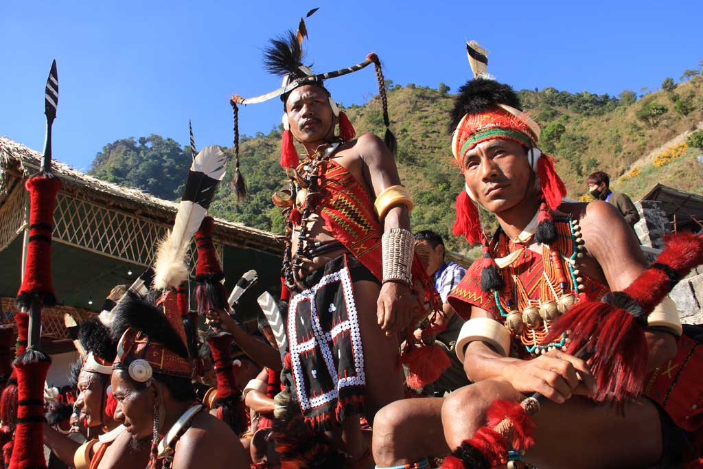 Konyak tribe during Aoling festival