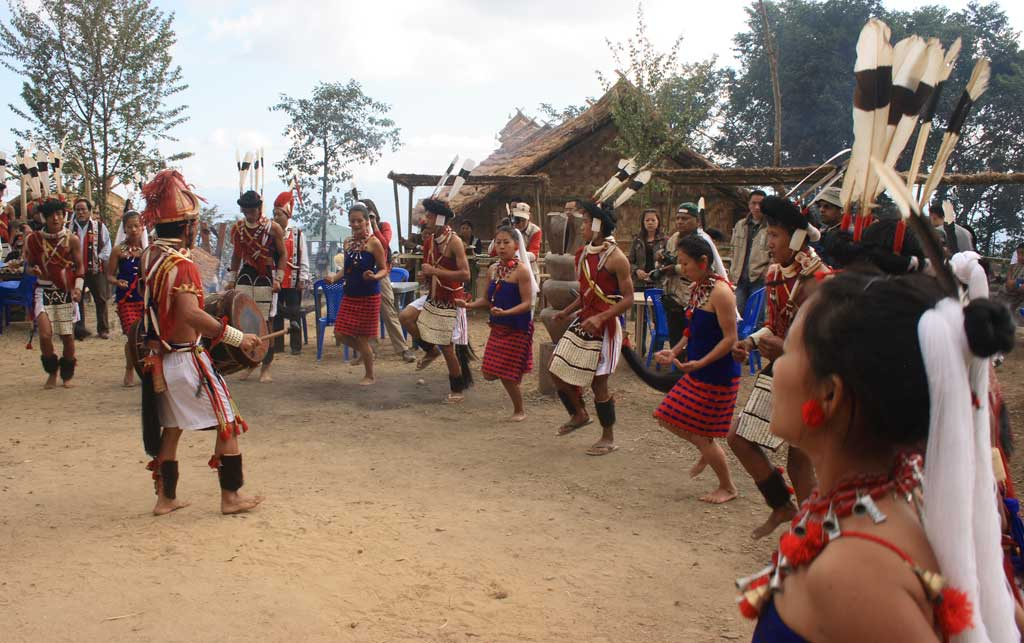 Traditional dance during Moatsu